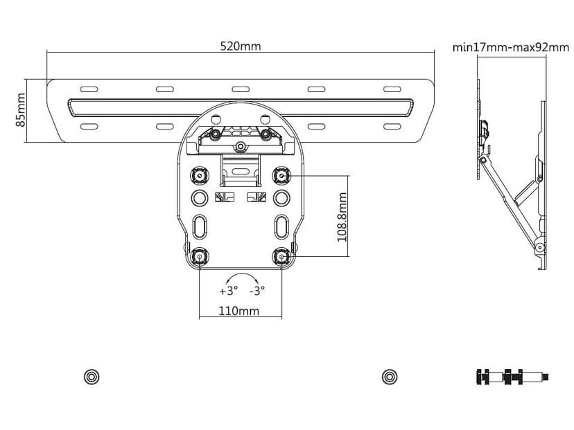 Multibrackets M QLED Wallmount Series 7/8/9