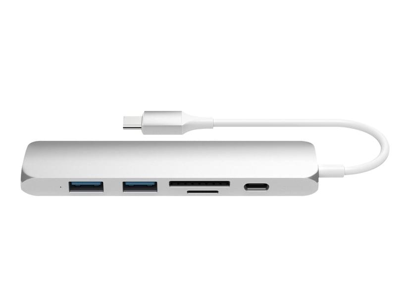 Satechi Slim Type-C Multi-Port Adapter V2 Silver