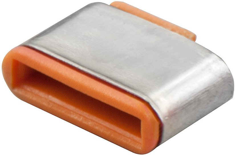 Lindy Port Blocker USB-C Orange 10-pack without key