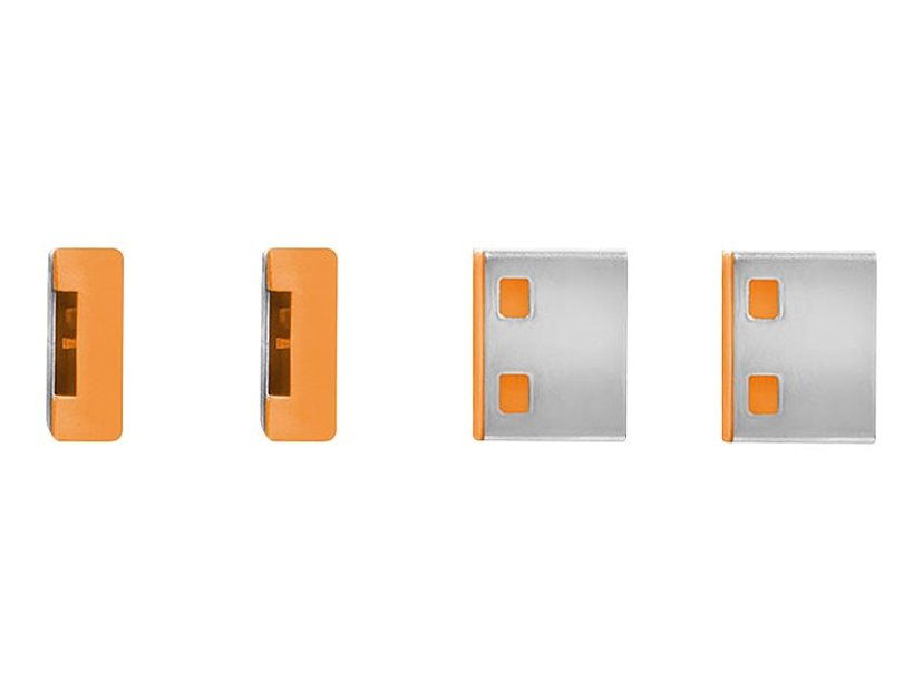 Lindy Port Blocker USB Orange 4-pack