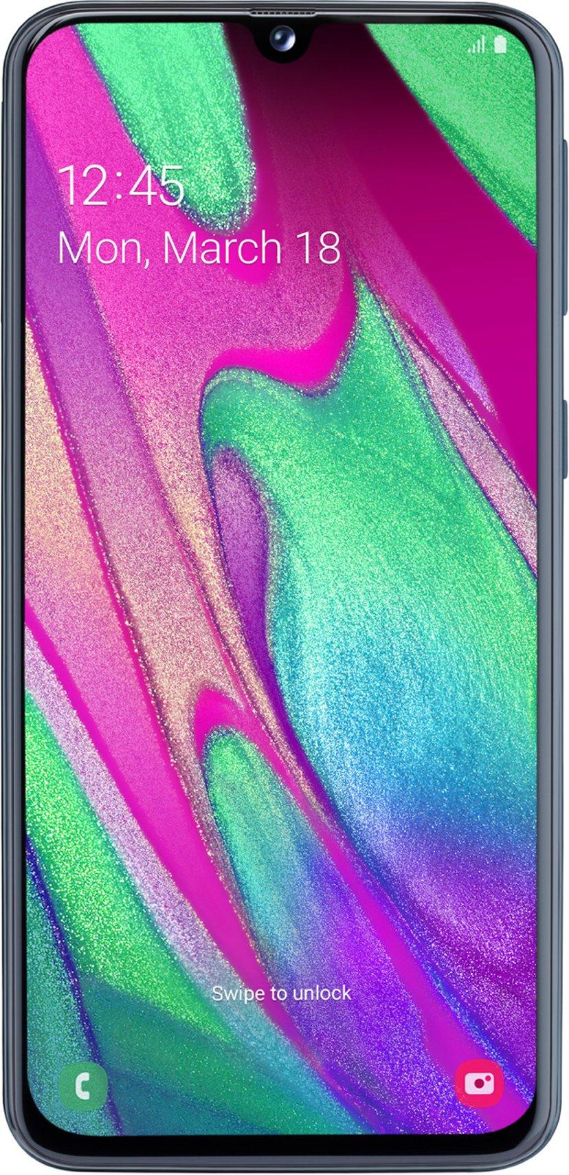 Samsung Galaxy A40 Enterprise Edition 64GB Dobbelt-SIM Svart