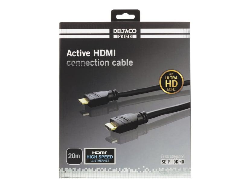 Deltaco Prime Aktiv HDMI 20m HDMI Han HDMI Han