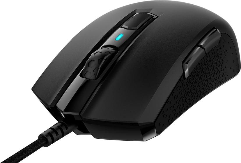 Corsair M55 RGB Pro Gaming Mouse 12,400dpi Muis Met bekabeling Zwart