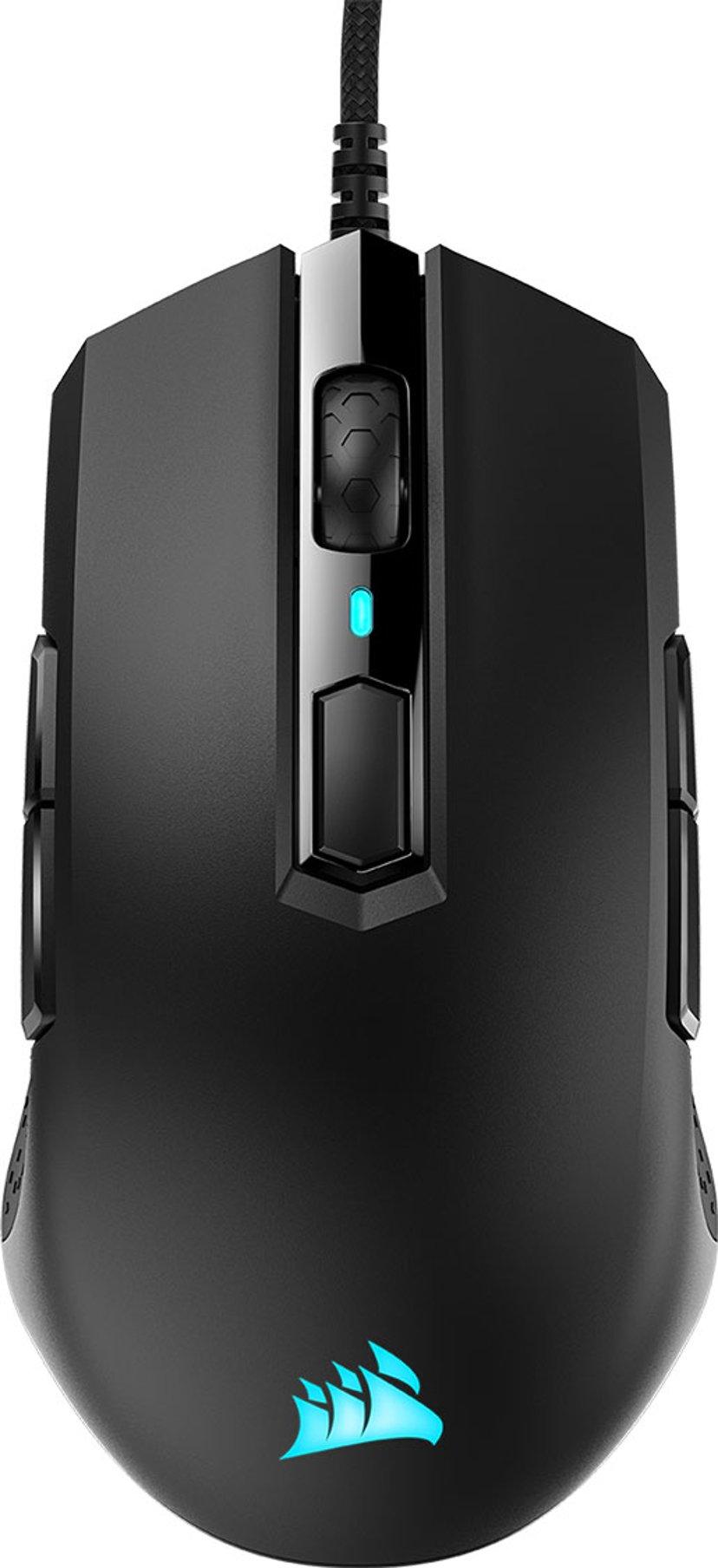 Corsair M55 RGB Pro Gaming Mouse Svart Mus Kabelansluten 12,400dpi