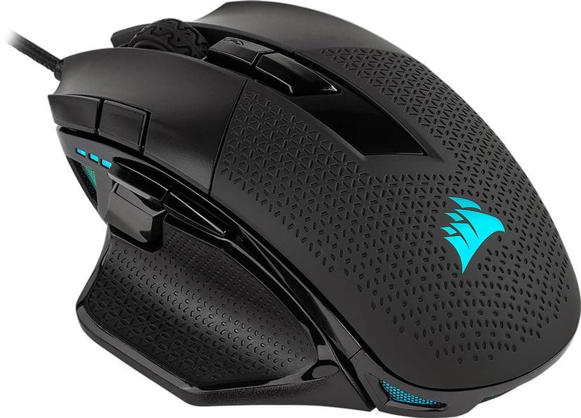 Corsair Nightsword RGB Gaming Mouse 18,000dpi Mus Kabelansluten Svart