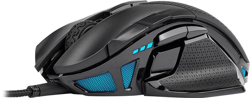 Corsair Nightsword RGB Gaming Mouse 18,000dpi Mus Kabling Sort