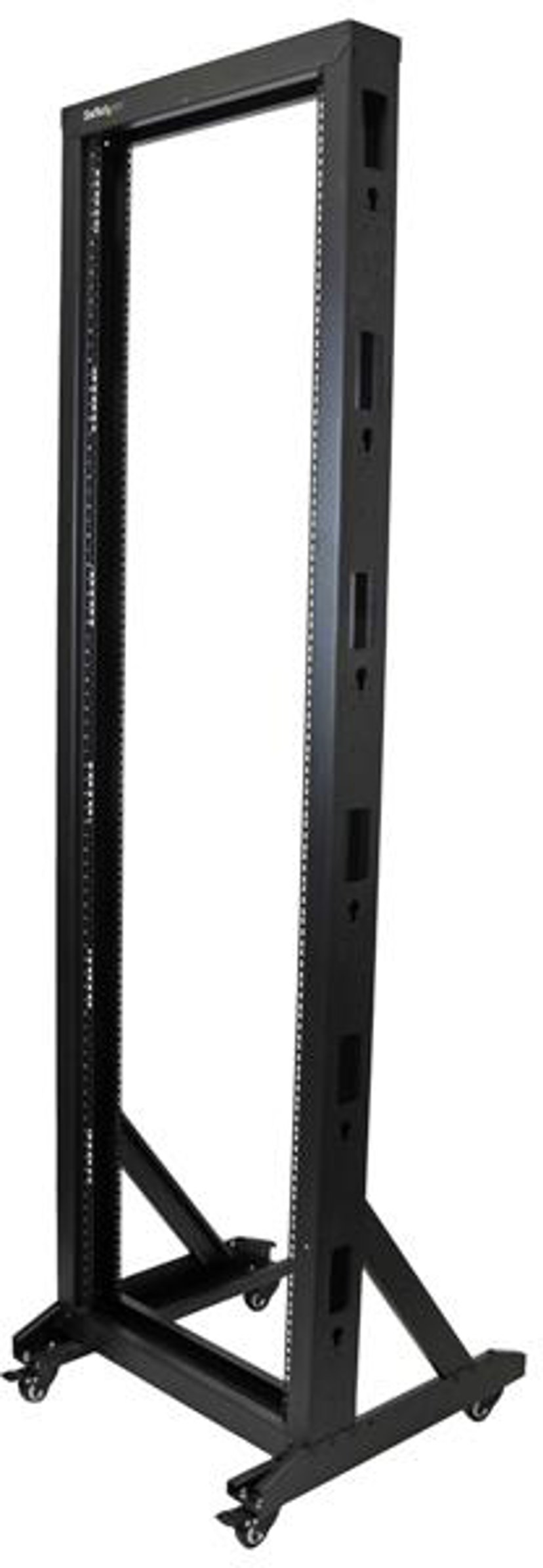 Startech 2-Post Rack for Server Equipment with Casters