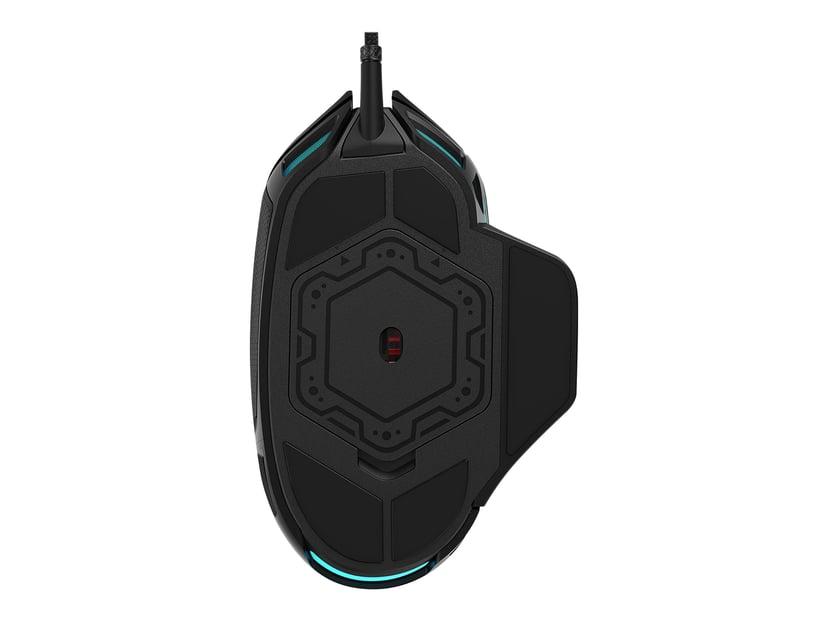 Corsair Nightsword RGB Gaming Mouse 18,000dpi Mus Kablet Svart