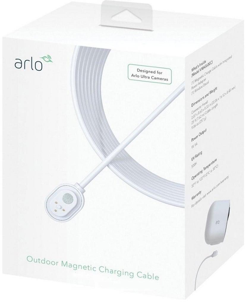 Arlo Ultra & Arlo Pro 3/4 Magnetisk laddningskabel utomhusbruk 7.5M