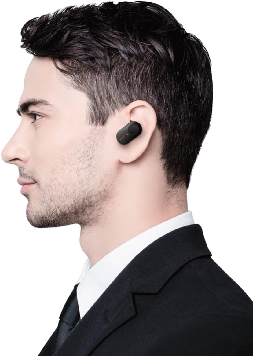 Sony WF-1000XM3 Trådlösa brusreducerande hörlurar med mikrofon Svart