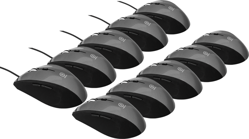 Voxicon Office M36W 10-Pack 1,600dpi Mus Kablet Svart