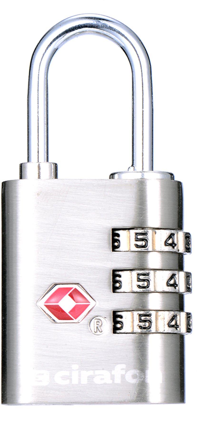 Cirafon Tresiffrigt TSA-Lås metall