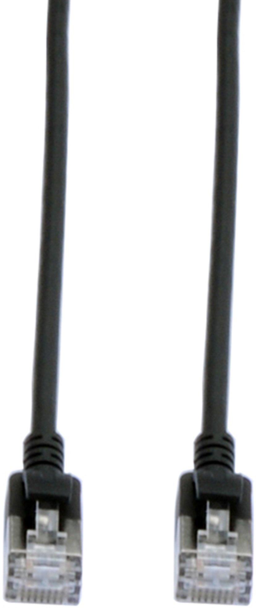 Prokord Patchkabel slim LSZH Svart RJ-45 RJ-45 CAT 6a 1m