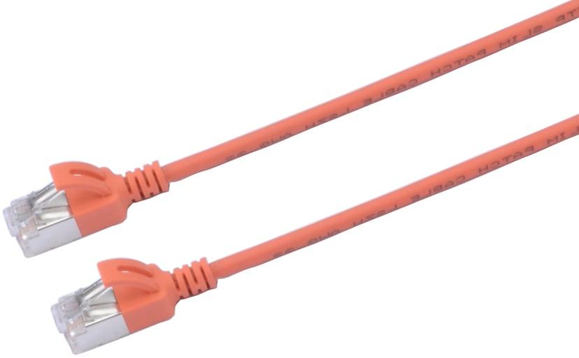 Prokord Patchkabel slim LSZH RJ-45 RJ-45 CAT 6a 2m Oransje