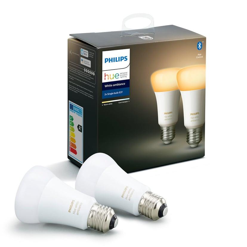 Philips Hue White Ambiance E27 2-Pack