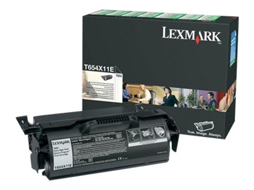 Lexmark Toner Svart 36k - T654 Return