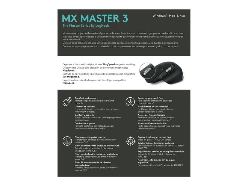 Logitech MX Master 3 For Business Zwart Muis Draadloos 4,000dpi