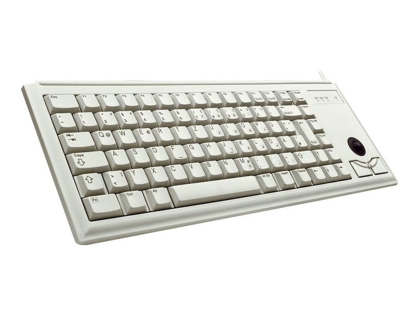 Cherry Compact-Keyboard G84-4400 - tangentbord Kabelansluten Tangentbord Tyska Grå