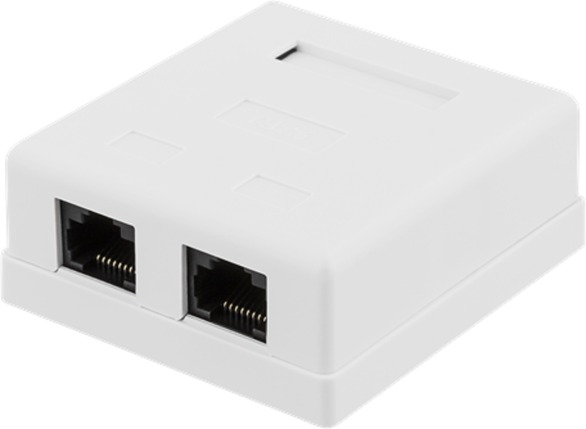Deltaco Wall Outlet 2-port