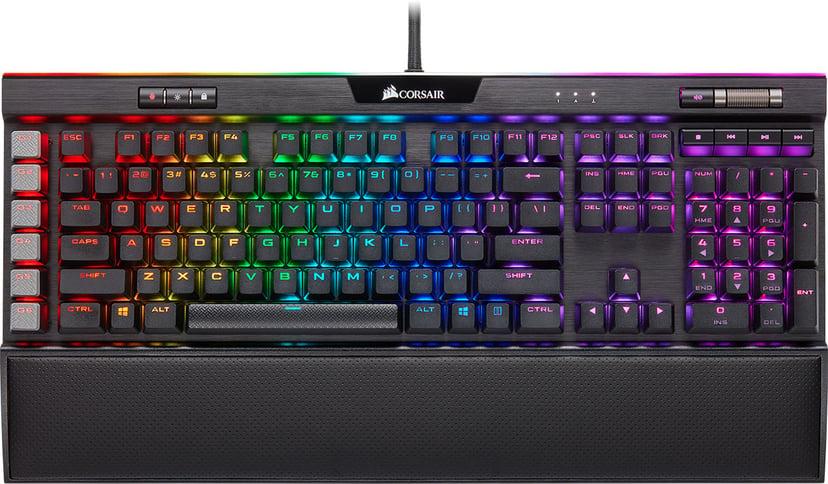 Corsair Gaming K95 RGB Platinum XT Kabelansluten Tangentbord Nordiska länderna Svart