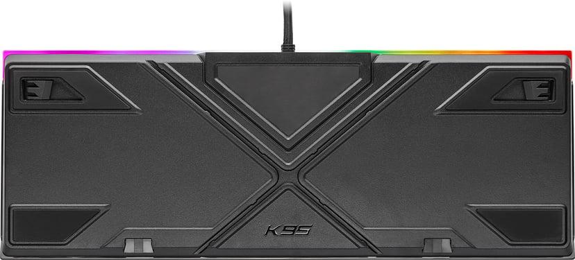 Corsair Gaming K95 RGB Platinum XT Tangentbord Kabelansluten Nordiska länderna Svart