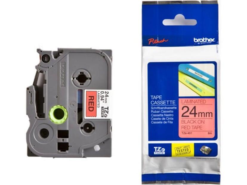 Brother Tape TZe-451 24mm Svart/Röd