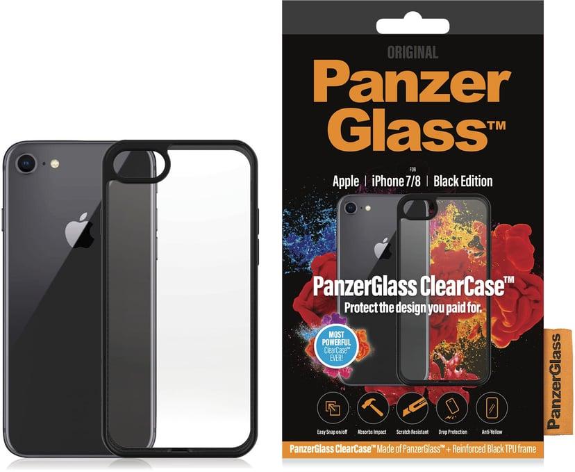 Panzerglass Clearcase BlackFrame iPhone 7, iPhone 8, iPhone SE (2020) Svart