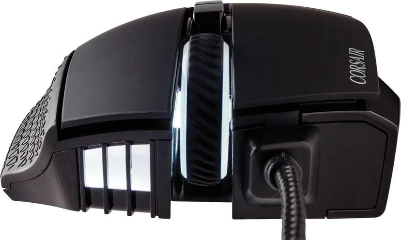 Corsair Scimitar Elite RGB 18000 dpi Svart Mus Kabelansluten 18,000dpi