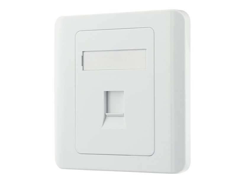 Deltaco VR-226 Keystone Wall Outlet 1-Port White