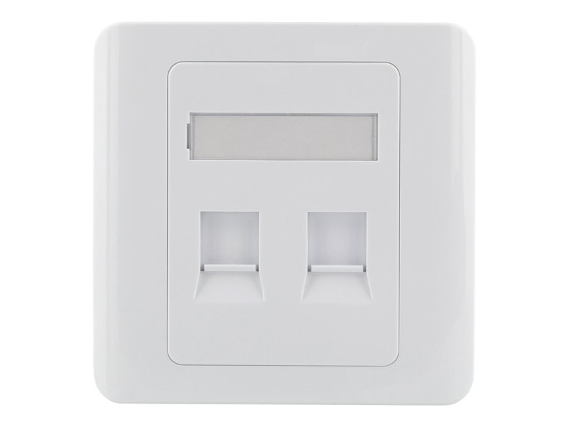 Deltaco VR-227 Keystone Wall Outlet 2-Port White