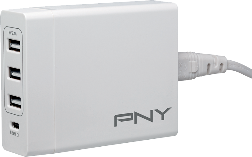 PNY Väggladdare Power Delivery 4-port 72W Vit