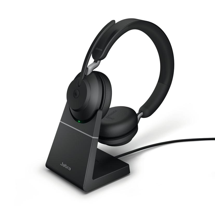 Jabra Evolve2 65 MS USB-C with Stand Svart