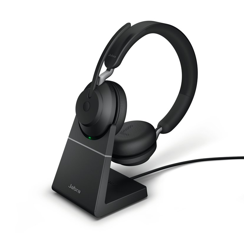 Jabra Evolve2 65 UC USB-C with Stand Svart