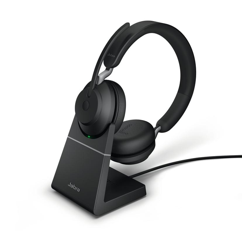 Jabra Evolve2 65 UC USB-A with Stand Svart