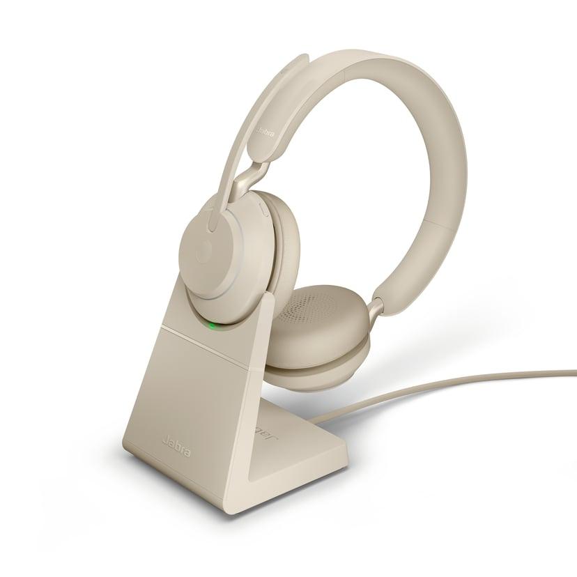 Jabra Evolve2 65 UC USB-C with Stand Beige