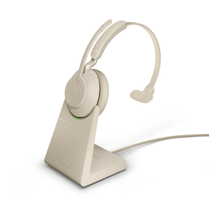Jabra Evolve2 65 MS USB-A with Stand Beige
