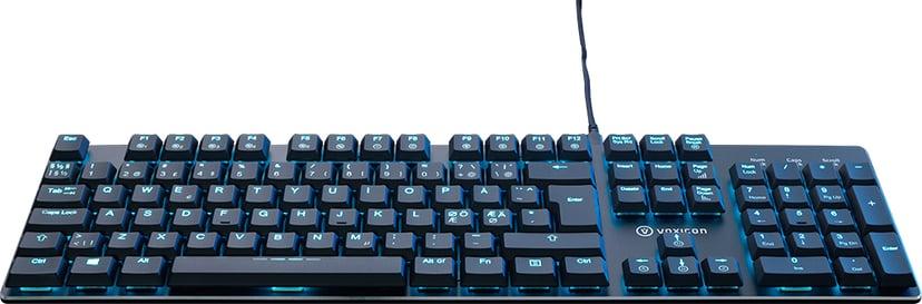 Voxicon Gaming Keyboard Gr8-9 Kabling Tastatur Nordisk