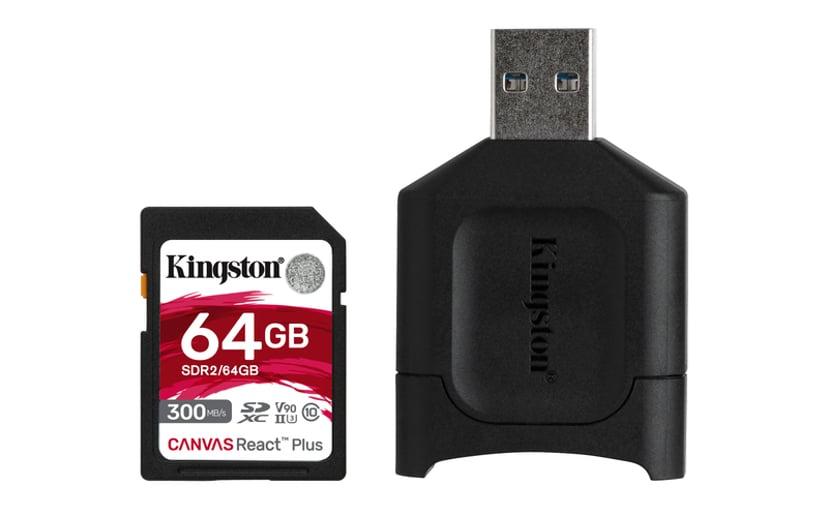 Kingston Canvas React Plus 64GB SDXC UHS-II minneskort
