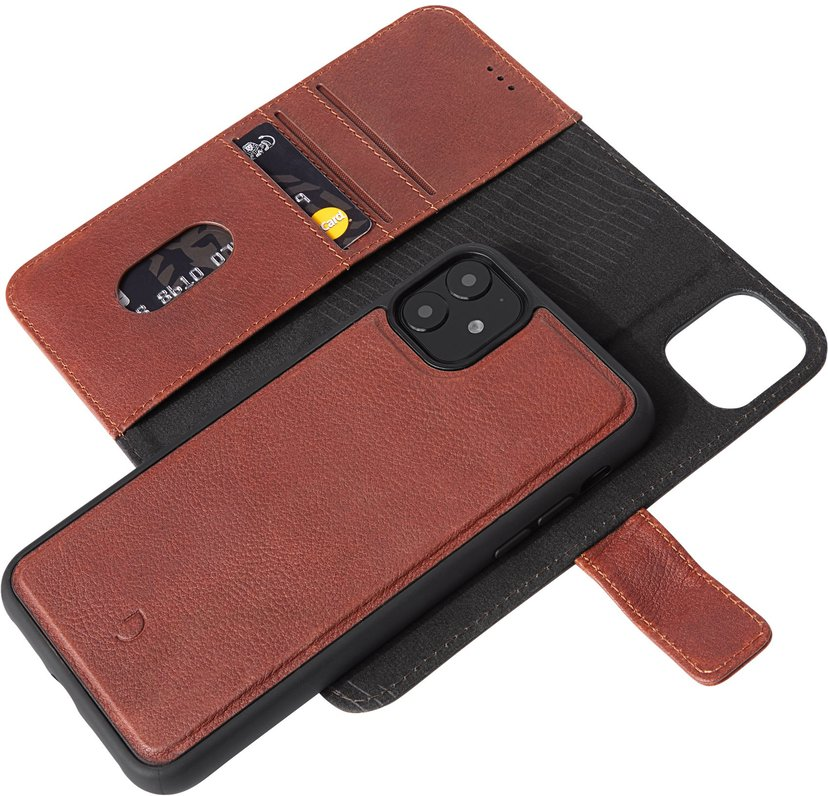 Decoded Detachable Wallet iPhone 11, iPhone Xr Brun