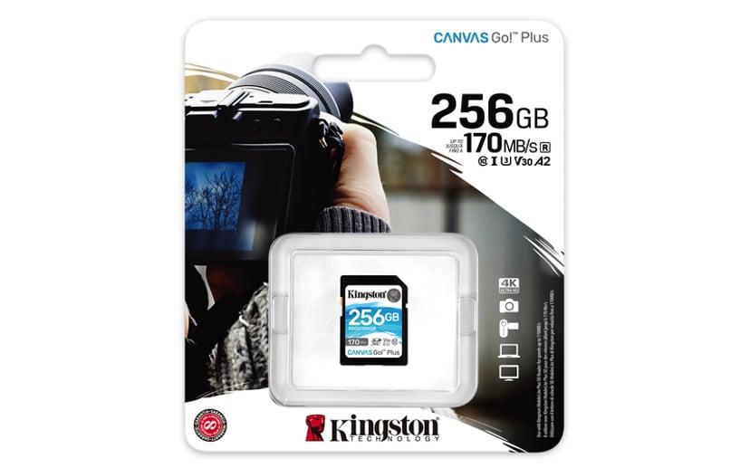 Kingston Canvas Go! Plus 256GB SDXC UHS-I minneskort