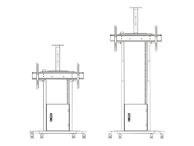 Multibrackets M Motorized Floorstand Flip 2 With Shelf - WM55R/WM65R