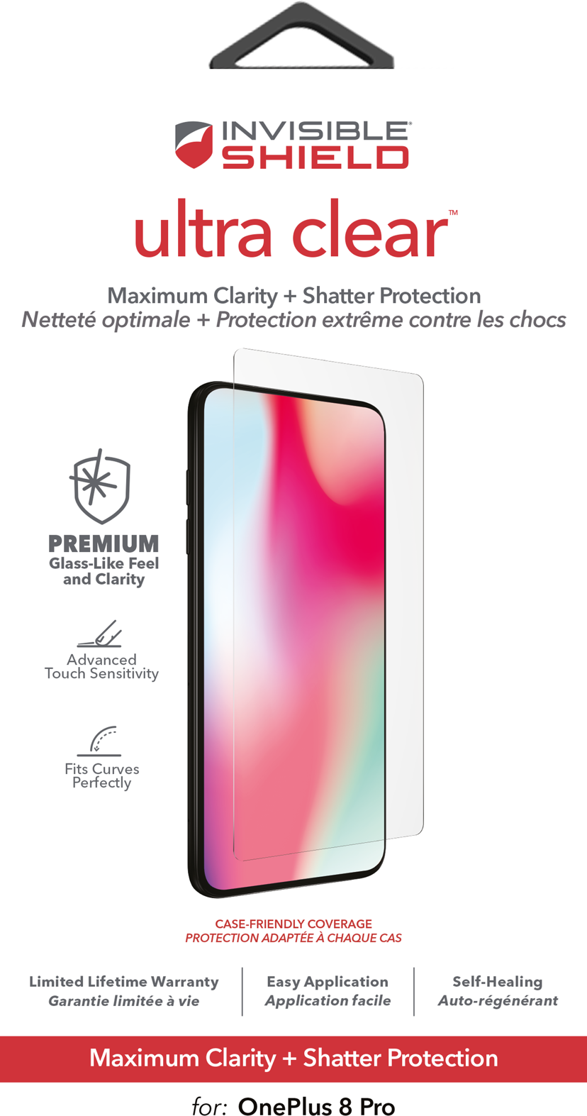 Zagg InvisibleShield ultra clear OnePlus 8 Pro