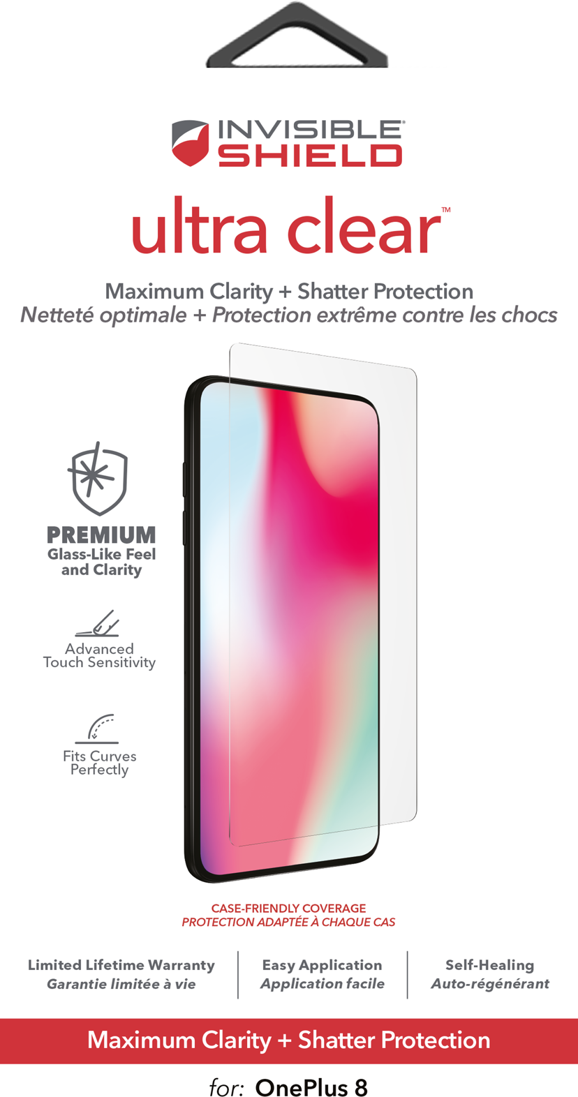 Zagg InvisibleShield ultra clear OnePlus 8