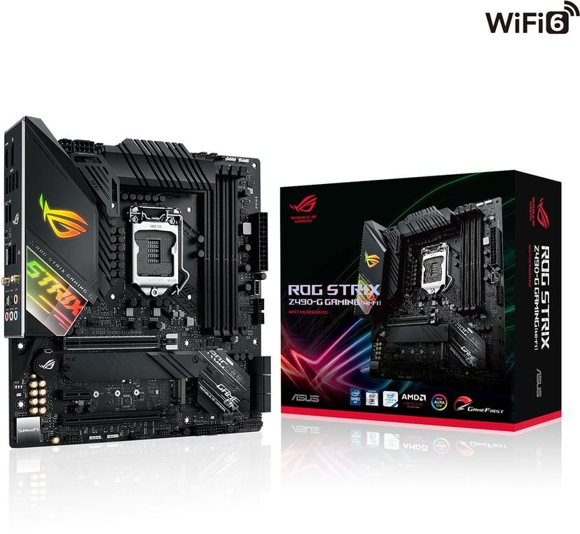 ASUS ROG STRIX Z490-G GAMING (WI-FI) Mikro ATX Hovedkort