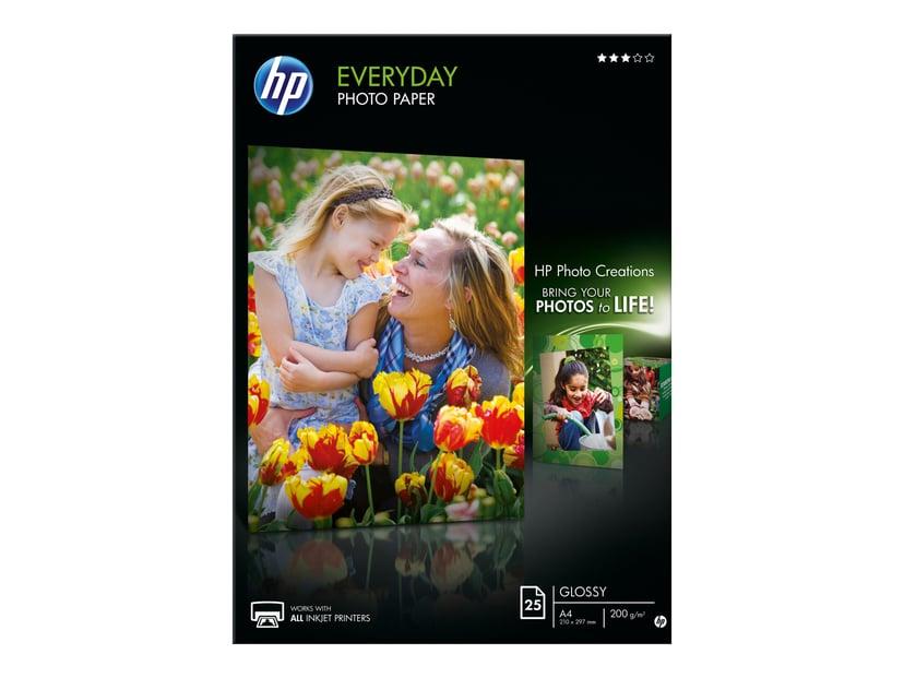 HP Papir PhotoEveryday A4 25-Ark 200g