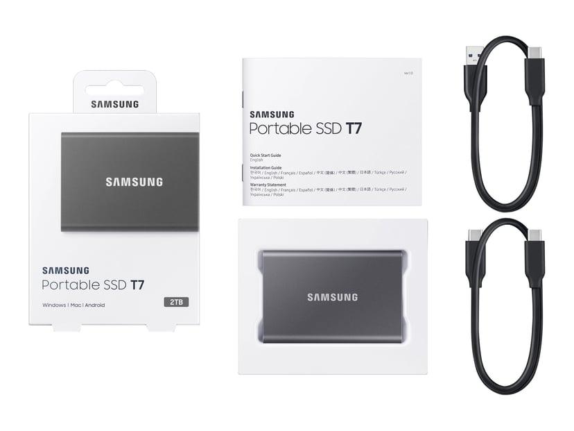 Samsung Portable SSD T7 2TB Grå