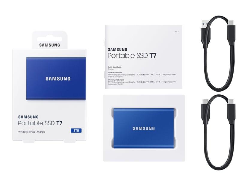 Samsung Portable SSD T7 2TB Blauw