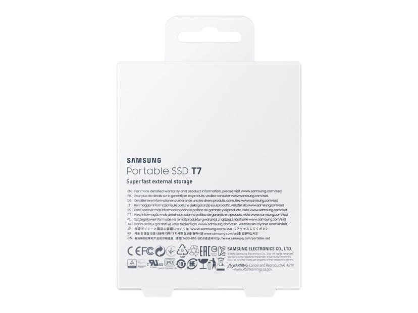 Samsung Portable SSD T7 0.5TB Blå