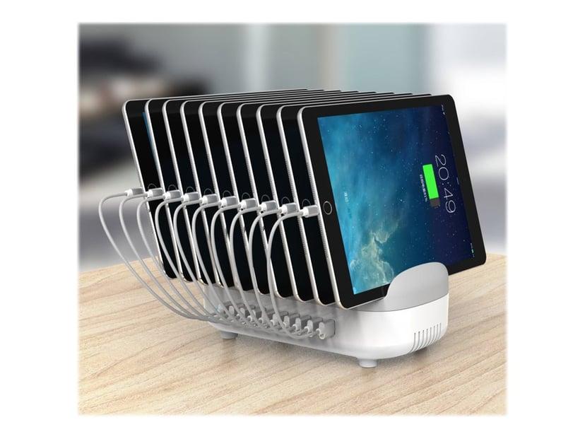 Maclocks Tablet / Phone USB Charging Hub Station 10 Ports