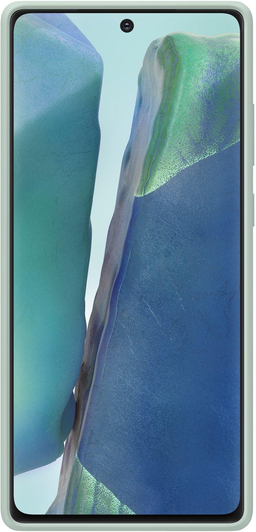 Samsung Silicone Cover EF-PN980 Samsung Galaxy Note 20 Mystisk grön